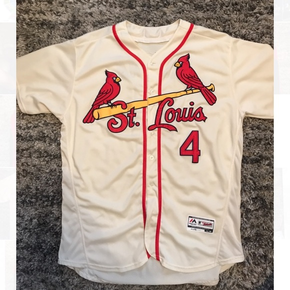 new product 2ab48 86618 Throwback Yadier Molina St. Louis Cardinals Jersey